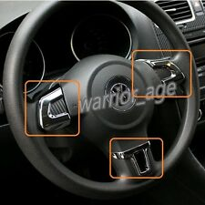 Chrome 3Pcs Steering Wheel Cover Trim Sticker For VW Golf MK6 Polo 2011-2012