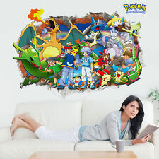 Pokemon - Ash, Pikachu & Friends - 3D Pokemon Go Wall Decals Sticker