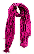 Style&co. Scattered Bows Wrap Scarf Magenta / Black - MSRP $29