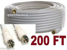 200 FT RG-6 SATELLITE COAXIAL CABLE HD CONNECTOR WIRE TV BELL DISH OTA COAX RG6