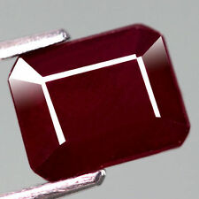 RARE 10x8mm OCTAGON-FACET DEEP RED/PURPLE NATURAL INDIAN RUBY GEM (APP £933)