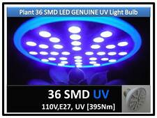 5th Gen Plant Grow 36SMD LED UV 395Nm Light Bulb 110V E27 USA Engineer Certified
