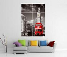 LONDON SCENE RED BUS BIG BEN GIANT WALL ART PRINT PHOTO POSTER