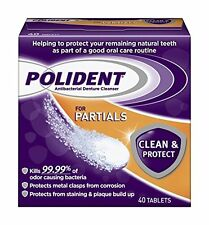 Polident Partials, Antibacterial Denture Cleanser - 40 Each
