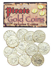 12 Fake Pirate Gold Coins Costume Accessory