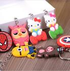 Free Shipping Fashion silicone keychain Rubber key chain gift