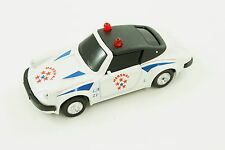 Rare Vintage MC Toy Porsche Red White Blue Marshal Police 1:36 Model Car Macau