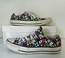 WOMENS SHOES CONVERSE CANVAS CT COLLAGE OX SIZE 7 BLACK NEON 514142F