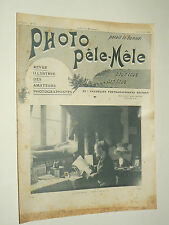 Revue Photo Pele Mele N°123  11/1905  photographie journal stereo book