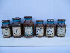 6 Bottiglie di pietra molto vecchio Magic Wizard Pozioni Fantasy Strega MISTICO wicca