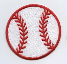 Iron On Applique Embroidered Patch Large Baseball Sport Ball