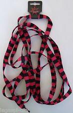 1 Paar Schnürsenkel,Shoelaces Punk ,Gothic  Schwarz/Pink oversize 172x1,1cm