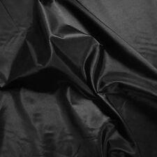 "Plain Black Silky Taffeta Fabric Weddings 60"" P/M"