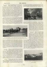 1900 Epsom Spring Meeting Coach Party Frederick Villiers Miss Helen Macbeth