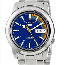 Seiko 5 Blue Dial Automatic Watch, 38mm Stainless Steel Case, Bracelet #SNKK27