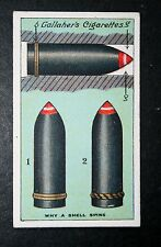 British Artillery Shell Design     World War 1     Vintage  Card  VGC