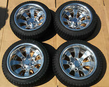 "EZGO Club Car Yamaha SET of 4 12"" Inch Alloy Rims DOT Tires 205 30 12 Golf Cart"