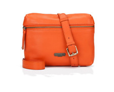 Village in vera pelle sapiston ENGLISH Arancione Crossbody Bag-NUOVO