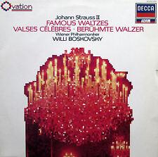 Johann Strauss II Famous Waltzes Willi Boskovsky Decca Ovation 417 279-1 NM/VG
