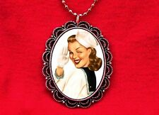 SAILOR PIN UP GIRL NAVY MILITARY VINTAGE PENDANT NECKLACE