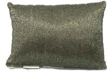 "NEW POTTERY BARN Rustic Sparkle Pillow Beaded 8.5"" x 12.5"" Bronze LaLangston NWT"