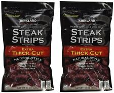 2 Pack Kirkland Signature Premium Beef Steak Strips Jerky 12 Oz