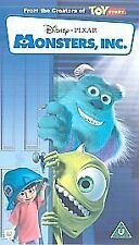 MONSTERS INC - DISNEY PIXAR VHS VIDEO - WALT DISNEY MOVIE FILM - BLUE CASSETTE