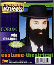 JEWISH STYLE BLACK PAYIS RELIGIOUS BIBLE CURLY HAIR RABBI COSTUME PAYIS