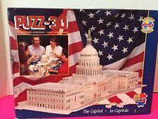 """Wrebbit  3D Jigsaw Puzzle """"THE CAPITOL"""" 718 Pieces"""