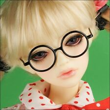 DOLLMORE BJD NEW SD SIZE - Round Steel Lensless Frames Glasses (Black)