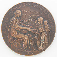 JETMED 088 - MEDAILLE DE TABLE - JOURNEE FRANCAISE - SECOURS NATIONAL - 1915