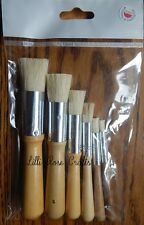 Hobby & Crafting Fun Wooden Stencil Brushes - Pack of 6 - Cardmaking - NEW