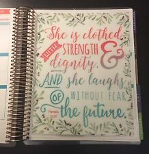 Proverbs Quote Two-Sided Dashboard for use with Erin Condren Life Planner