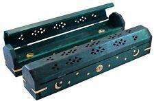 """1 Celestial Coffin Incense Burner - Green - 12"""", New, Free Shipping"""