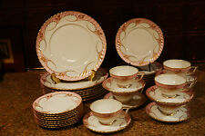 Vintage 1940s NEW & UNUSED Royal Tettau YVONNE PINK China/37 Pcs~~VERY RARE!