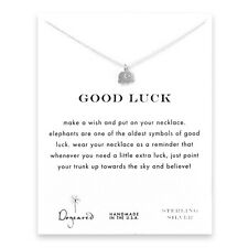 """Dogeared Sterling Silver Good Luck Elephant Reminder 16"""" Necklace"""