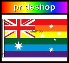 Rainbow Flag Australia 3' x 5' Strong Silk Screen Gay Lesbian Pride #936