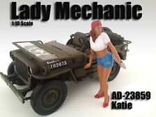 LADY MECHANIC - KATIE - 1/18 scale figure/figurine - AMERICAN DIORAMA