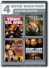 Wake Island, To Hell & Back, Gray Lady Down, Battle Hymn DVD New 2 Disc Set