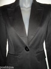 bebe 0 Blazer Suit Jacket Black Career Professional Collared Fall Winter Spring