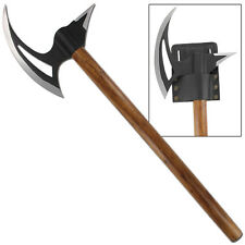 Hand Forged Medieval Viking Renaissance Men at Arms Battle Axe