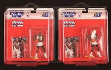 LOT of 2 1996 Dennis Rodman Starting Lineup Hair Color Variations Orange / Green
