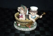 """Lilly Zingle Molly Berry Figurine """"Baths Are The Best Friendships"""" S.S. Washtub"""