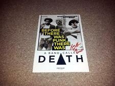 """A BAND CALLED DEATH PP SIGNED 12""""X8"""" INCH POSTER BOBBY DANNIS HACKNEY"""