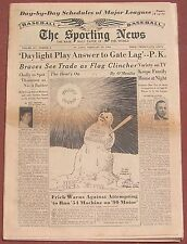 2-10-54 SPORTING NEWS FRANK LEAHY QUITS NOTRE DAME  MAJOR LEAGUE SCHEDULES