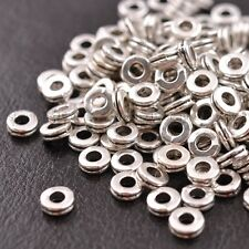 100PCS Tibetan Silver/Gold/Bronze Rings Spacer Beads Jewelry Findings 6MM SH3039