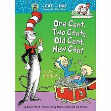 ONE CENT TWO CENTS OLD NEW CENT Dr Seuss Money book Learning Library children's