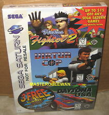 Sega Saturn Game Pack Virtua Fighter 2 + Virtua Cop + Daytona USA New Sealed
