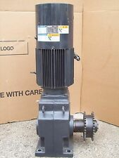 5 HP INDUCTION GEAR MOTOR RNHMS5-63L-V1-B-15  SUMITOMO HYPONIC DRIVE 3.7 KW