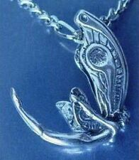 LOOK Celtic fantasy Fairy 3D Pendant Charm Sterling silver